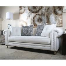 Linen Chesterfield Sofa South Cone Home Hanover Tufted Linen Chesterfield Sofa Reviews
