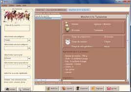 logiciel recette cuisine gratuit 3 logiciels gratuits de recette de cuisine à telecharger classer