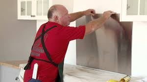 how to install a stainless steel splashback diy at bunnings