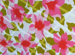 bright summer tropical pink floral flower on white with green