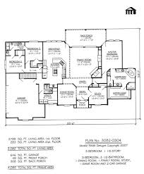 1 story house plans with 3 bedrooms