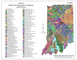 Map Indiana Indiana Statsgo Map From The National General Soil Map Nrcs