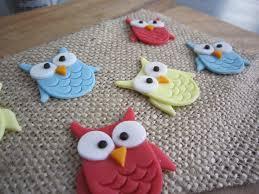 owl fondant toppers cupcake cookie 3d fondant tutorials
