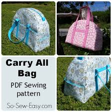 bag pattern in pinterest carry all bag pattern with pockets galore so sew easy