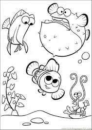 aquarium coloring page happy in tank coloring page free finding nemo coloring pages