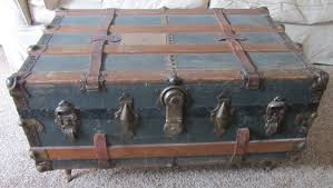 antique steamer trunk coffee table home decorations