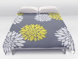 grey and yellow duvet cover home design ideas