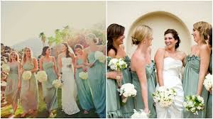 green u0026 blue bridesmaid dresses beauandarrowevents
