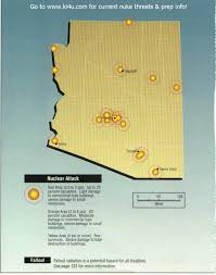Tucson Arizona Map by Nuclear War Fallout Shelter Survival Info For Arizona With Fema