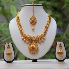 necklace sets design images Grab online antique design maroon chaki ad necklace set 504353 jpg
