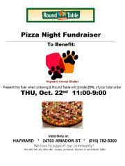 round table pizza hayward amador pizza night fundraiser this thursday october 22 2015 from city of