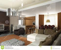modern interior design privat apartment 3d render royalty free