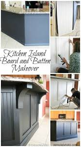 kitchen island makeover kitchen island updated with board and batten remodelaholic