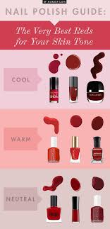 different reds nail guide the best reds for your skin tone weddbook