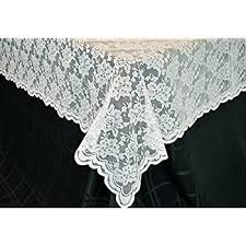 white lace reusable tablecloth rectangle size 60 x