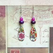 sixties earrings bohemian earrings earrings vintage earrings retro