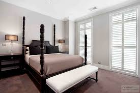 White Bedroom Blinds Decorating Exciting Plantation Blinds For Traditional Bedroom Design