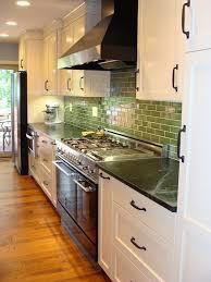 Green Backsplash Kitchen White Kitchen Cherry Island Soapstone Counters Hefty Orb