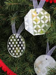 simple glittered mirror diy ornaments mod podge rocks