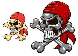 pirate skull with crossbones stock vector illustration of bones