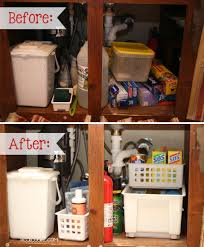 kitchen cabinet organization solutions organizing tips for under the sink from messy to organized