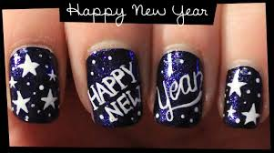 Nail Art Designs For New Years Eve Happy New Year Nail Art Youtube