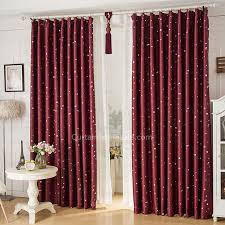 Insulated Thermal Curtains Cool Pattern Wine Color Quality Insulated Thermal Curtains