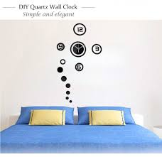 3d diy wall clock mini modern wall sticker design livingroom home