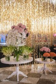 floral decor the glamorous cocktail decor at the hazoorilal wedding