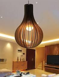hängeleuchten wohnzimmer 12w led vintage holz anhänger deckenleuchten hängeleuchten