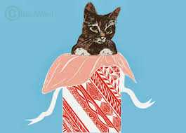 the cat that cried wolf christmas cards 2013