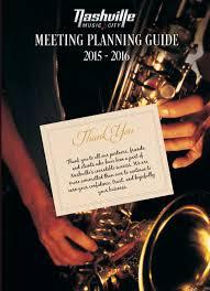 calaméo nashville meeting planning guide 2015 16