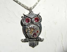 steampunk owl necklace images Steampunk goddess athena owl azalea shades of pink necklace jpg