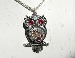steampunk owl necklace images Steampunk goddess athena owl azalea shades of pink necklace jpg