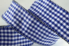 blue gingham ribbon 38mm wired gingham ribbon a brilliant wired edge ribbon woven in