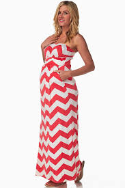 chevron maxi dress pink white chevron maternity maxi dress