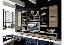 Wohnzimmerschrank Lack Wohnwand San Remo Eiche Hell Woody 22 00587 Woody Möbel