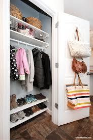 closet makeovers organized coat closet makeover how to nest for less