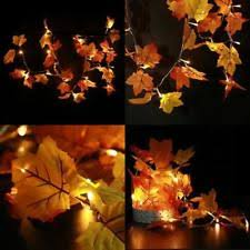 thanksgiving decorations lighted fall garland 20