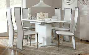 Perfect Design White Gloss Dining Table Peaceful Ideas White High