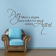 amazon com mairgwall spanish wall decal love saying quotes