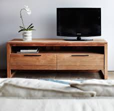 light frame teak tv console with 3 drawers originals furniture