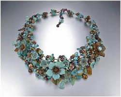 flower bead necklace images Floral fantasy wire work jewelry by mary lowe the beading gem 39 s jpg
