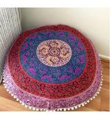 Large Outdoor Floor Pillows by Jaipur Round Floor Cushion Mandala Throw Pillowcases 32