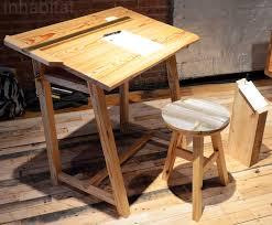 Drafting Table Wood 12 12 Reclaimed Wood See Saw Base Inhabitat U2013 Green Design