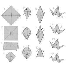 Step By Step Origami For - doodlecraft origami flapping paper crane mobile