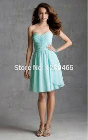wholesale strapless sweetheart short mint green bridesmaid dresses