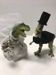 dinosaur wedding cake topper dinosaur wedding dino wedding trex wedding trex groom trex