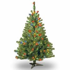 national tree co 4 foot spruce pre lit tree