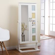 floor standing jewelry armoire enter home stand up mirror